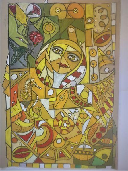 Bunt, Wortlos, Gesicht, Fantasie, Abstrakt, Malerei