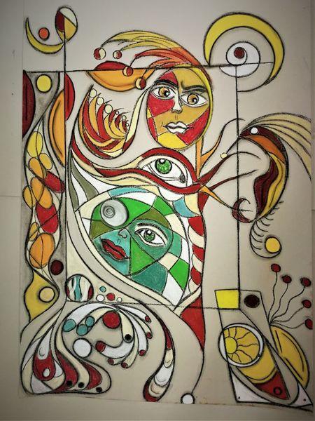 Kopf, Fantasie, Gesicht, Bunt, Abstrakt, Rund