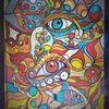 Fisch, Augen, Bunt, Abstrakt