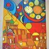 Abstrakt, Bunt, Fantasie, Häuser