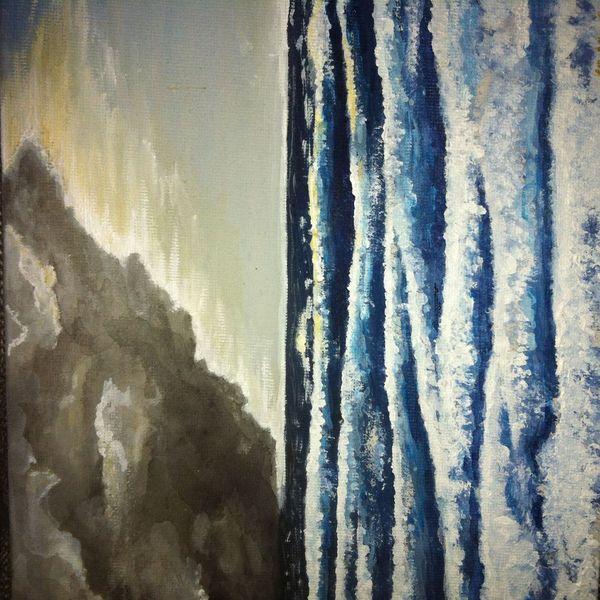 Nordsee sturm, Acrylmalerei, Malerei, Sturm