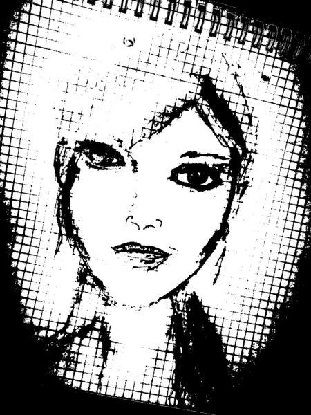 Portrait, Bleistiftzeichnung, Schwarz, Zeichnungen, Schwer, Nehmen