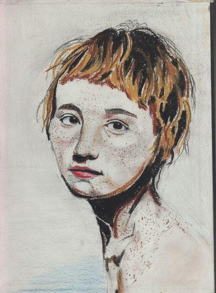 Skizzenbuch, Portrait, Pastellmalerei, Zeichnungen