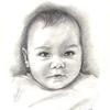 Bleistiftzeichnung, Schwarz weiß, Geschenk, Portrait