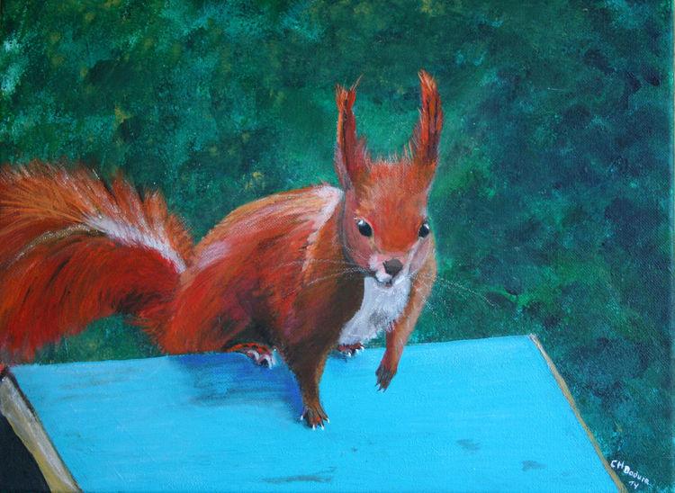 Tiere, Pastellmalerei, Acrylmalerei, Malerei, Eichhörnchen