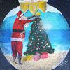 Kugel, Blau, Weihnachten, Warm