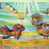 Licht, Vogel, Naturmalerei, Sonnenstrahlen