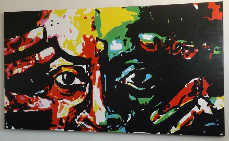 Kunst niedrigen preis, Malerei förderung, Malerei, Portrait, Prominent, Portrait von prominenten