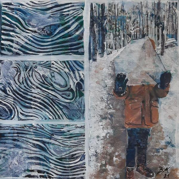 Eis, Wald, Eiszeit, Malerei, Welt