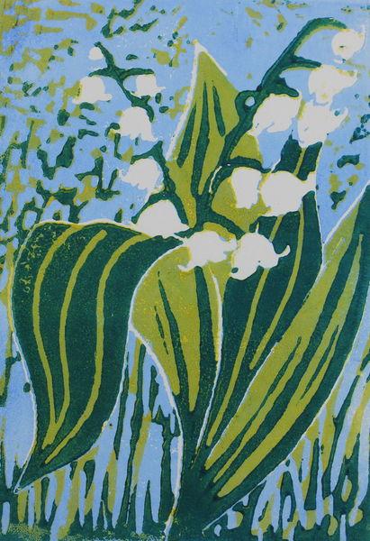 Maiglöckchen, Frühling, Grün, Blumen, Druckgrafik
