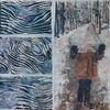 Eis, Wald, Eiszeit, Malerei