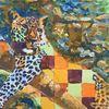 Leopard, Baum, Wild, Malerei