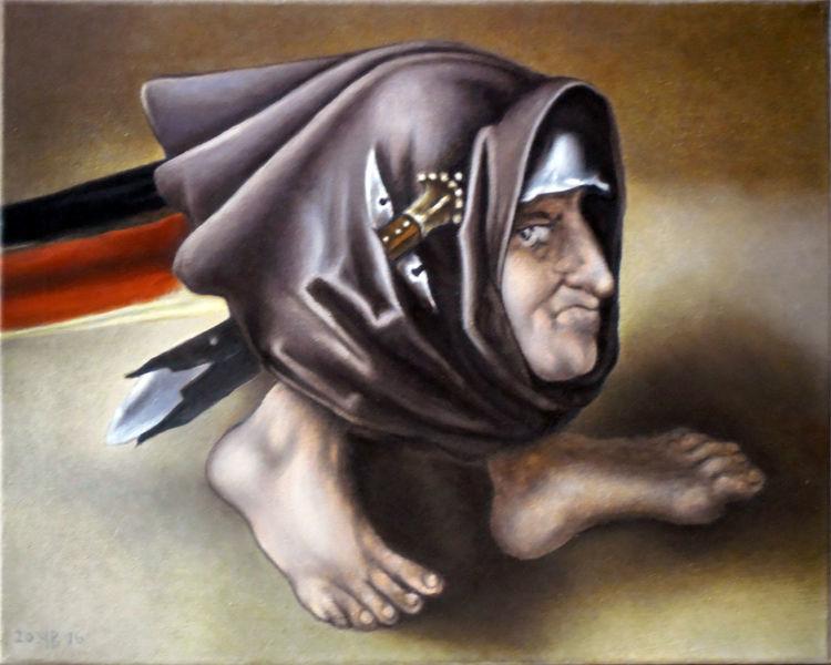 Monster, Kopffüßler, Bosch, Malerei