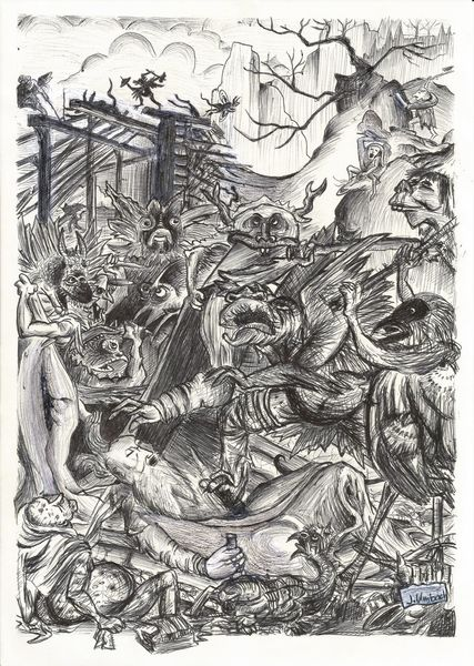 Landschaft, Zeichnung, Monster, Illustration, Heiliger antonius, Fantasiewesen