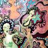 Buntstiftzeichnung, Universum, Farben, Malerei