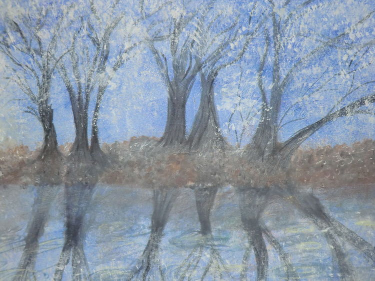 Traumwelt, Acrylmalerei, Besinnlichkeit, Träumereien, Malerei, Winter