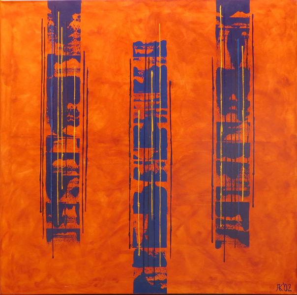 Acrylmalerei, Malerei, Abstrakt, Kopp, Cello,