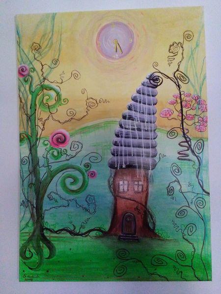 Bunt, Kinderzimmer, Fantasie, Nie zu spät, Sonne, Haus