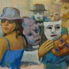 Akrobaten, Maske, Harlekin, Farben