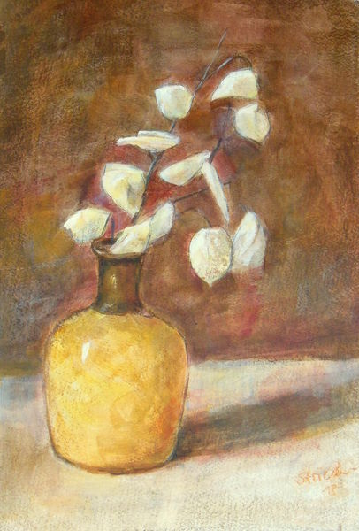 Herbst, Augenblick, Silberblatt, Wunderbar, Vase, Malerei