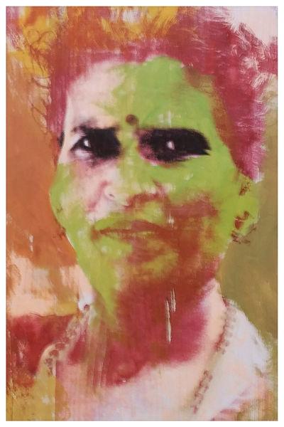 Frau, Siebdruck, Nepal, Popart, Portrait, Druckgrafik