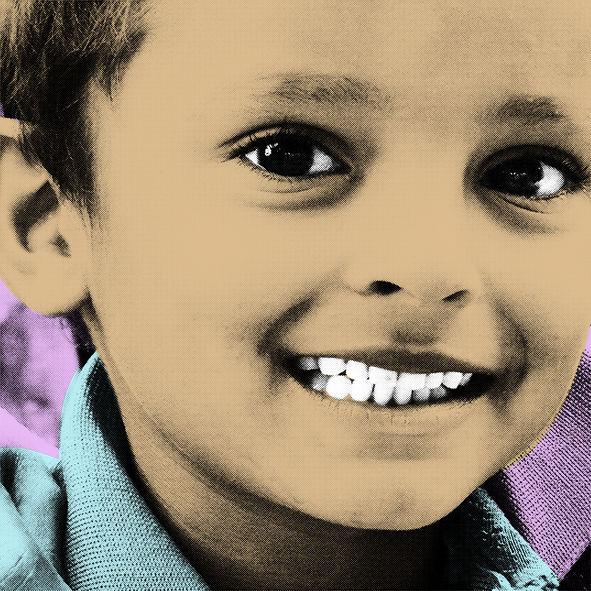 Digital, Kids, Portrait, Nepal, Popart, Digitale kunst