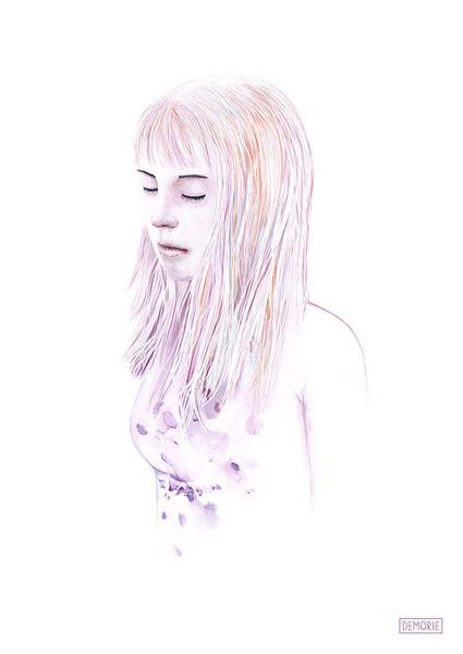 Blau, Traum, Aquarellmalerei, Wasserfarbe, Digital art, Illustration