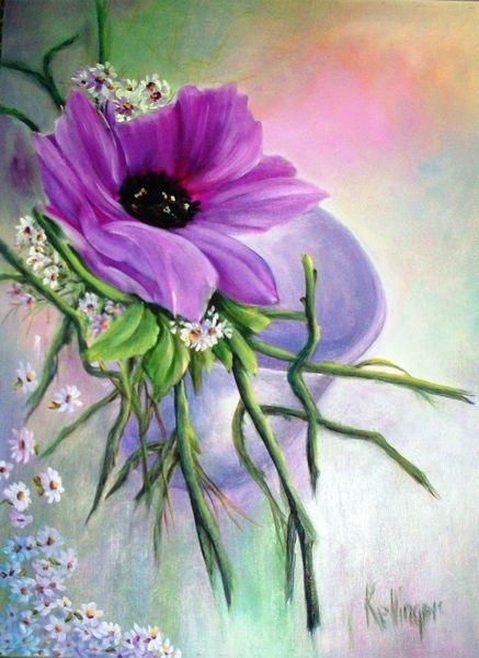 Lila, Blumen, Malerei