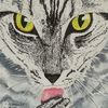 Katze, Schwarzweiß, Augen, Aquarell