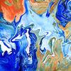blick von oben - abstrakt, , acryl