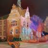 Spaziergang durch recklinghausen, Licht, Ölmalerei, Nacht