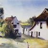 Insel, Malerei, Fischerdorf, Fischerhaus