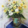 Margerite, Vase, Weiß, Blumen