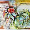 Rose, Fenster, Zeitung, Pflanzen