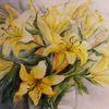 Lilien, Pflanzen, Blumen, Aquarellmalerei