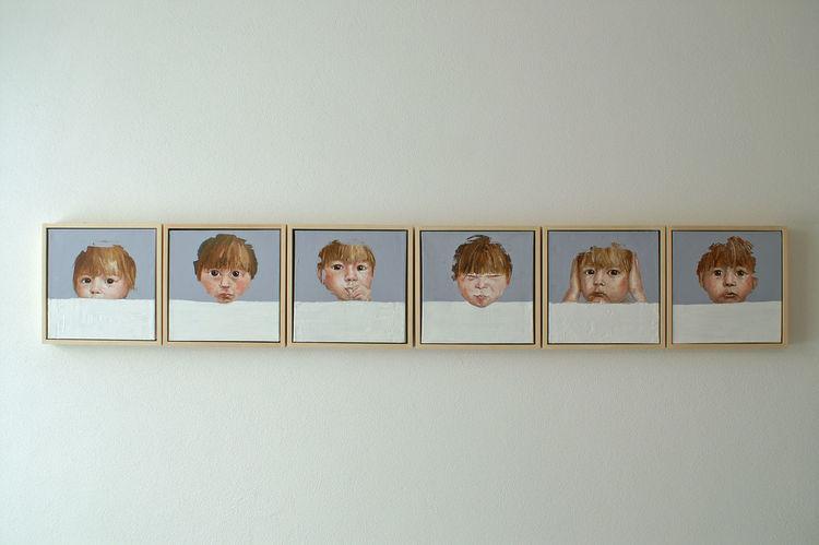 Ausdruck, Zeitgenössisch, Menschen, Portrait, Blick, Ölmalerei