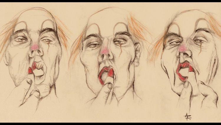 Schminke, Manege, Moment, Wahnsinn, Angst, Zirkus