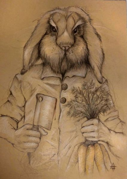 Kaninchen, Küchenchef, Rache, Ostern, Beil, Hase