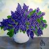 Aquarellmalerei, Vase, Flieder, Aquarell