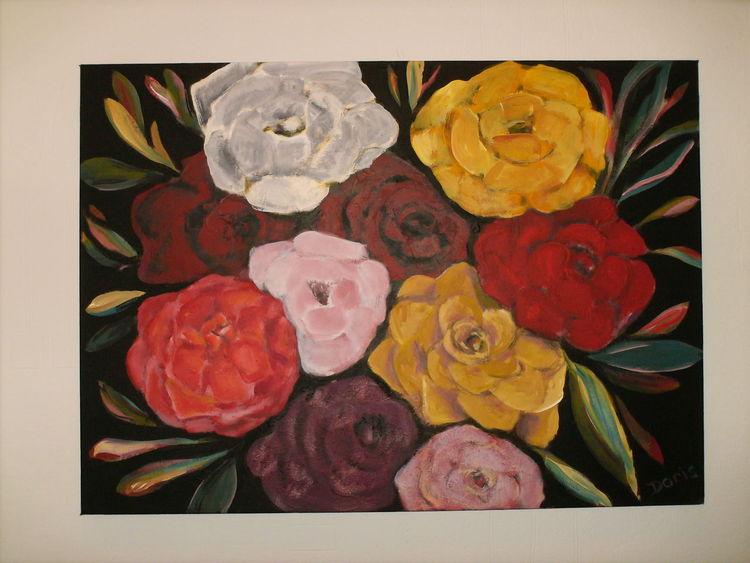 bild malerei pflanzen rosen von doris bei kunstnet. Black Bedroom Furniture Sets. Home Design Ideas