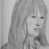 Zeichnung, Bleistiftzeichnung, Frau, Zeichnungen