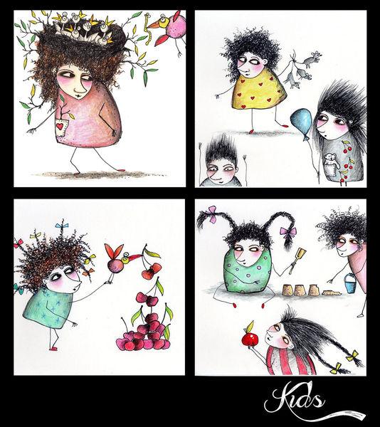 Illustration, Zeichnung, Kinder, Kinderbuch, Figural, Illustrationen