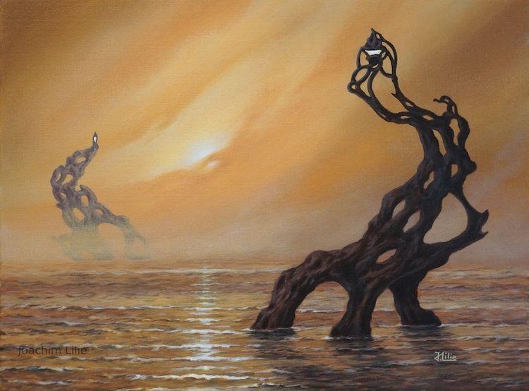 Acrylmalerei, Fantasie, Surreal, Malerei