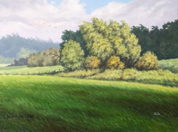 Ölmalerei, Natur, Landschaft, Malerei