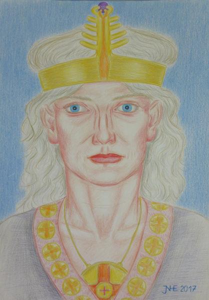 Portrait, Figurativ, Mythologie, Germanisch, Zeichnungen
