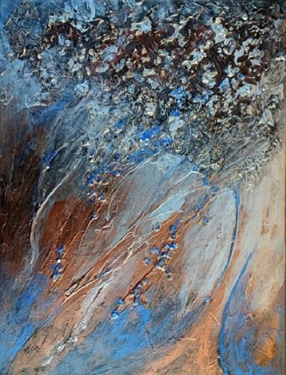 Blau, Glanz, Struktur, Kupfer, Silber, Malerei