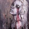 Acrylmalerei, Frau, Fantasie, Malerei