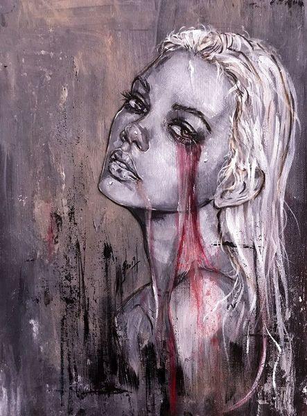 Fantasie, Acrylmalerei, Frau, Malerei