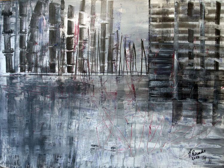 Hafen, Acrylmalerei, Tinte auf leinwand, China, Malerei