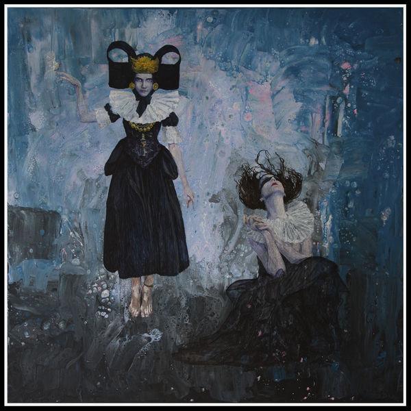 Düster, Malerei, Figural, Acrylmalerei, Portrait, Pouring